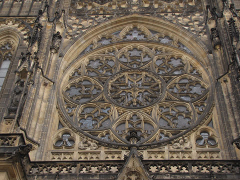 Prague cathedral window