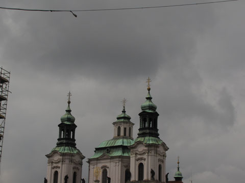 Spires and telephone lines