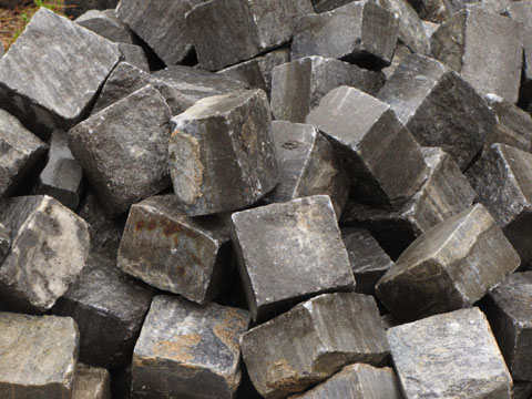 A heap of paving stones